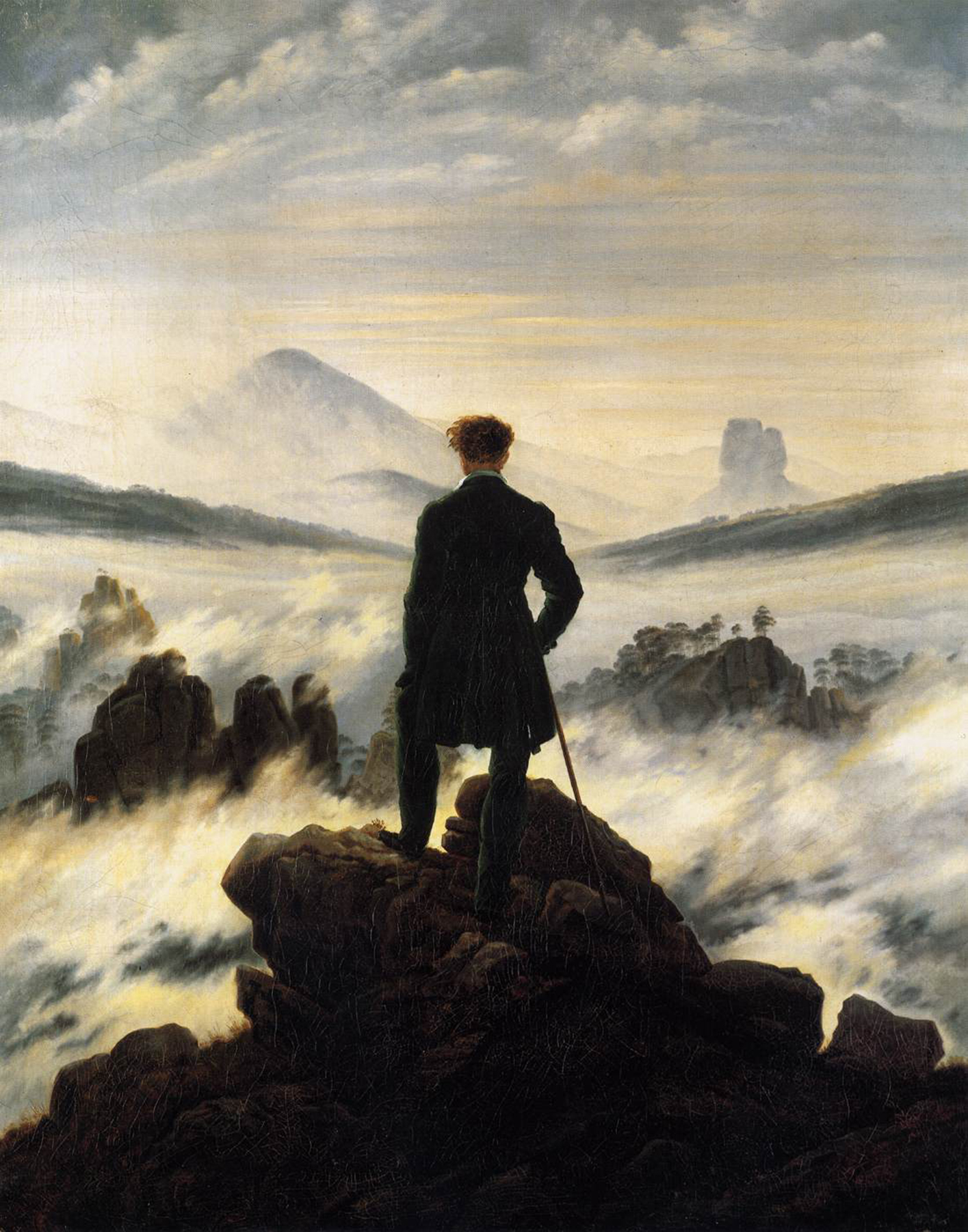 Caspar David Friedrich, Wanderer über dem Nebelmeer, um 1818, Hamburger Kunsthalle