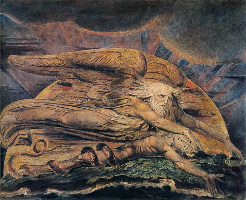 "William Blake, ""Elohim erschafft Adam"" (1795)"