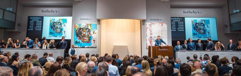 Das Bietergefecht bei Sotheby's, New York, hob Basquiats