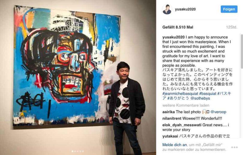 (Copyright: instagram und Yusaku Maezawa)