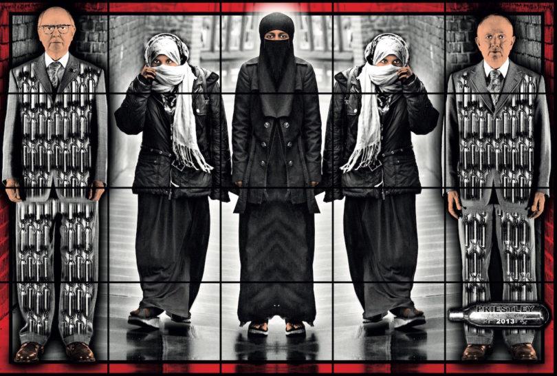 """Fotoarbeit """"Priestley"""" (2013) aus der Serie """"Scapegoating Pictures"""", die in Berlin gezeigt wird (Foto: Gilbert & George)"""
