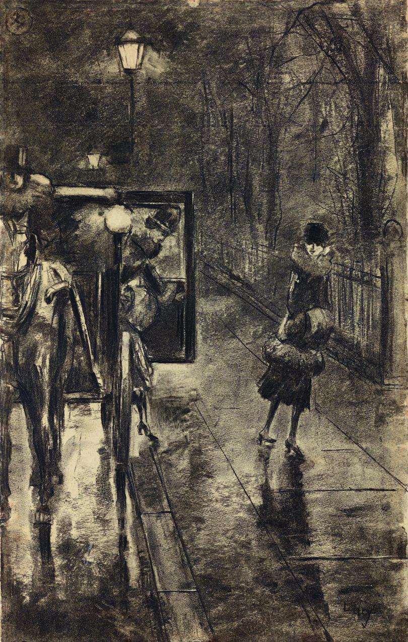Lesser Ury: Straßenszene, um 1925, Kunkel Fine Art