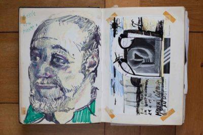 Markus Lüpertz zählt bis heute zu den Freunden der Gotfryds. Er malte seinen Zahnarzt und Schachpartner im Wartezimmer – nicht mit Pinsel, sondern mit einem Pfeifenputzer (Nora Ströbel)