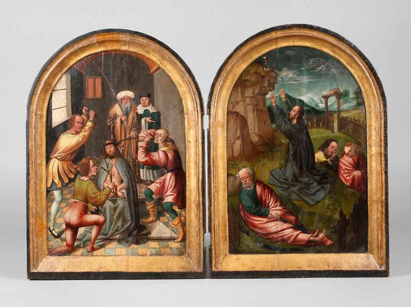 Passionsszenen, Flämisch, um 1500, je 40x30 cm (Abb.: Mehlis, Plauen)