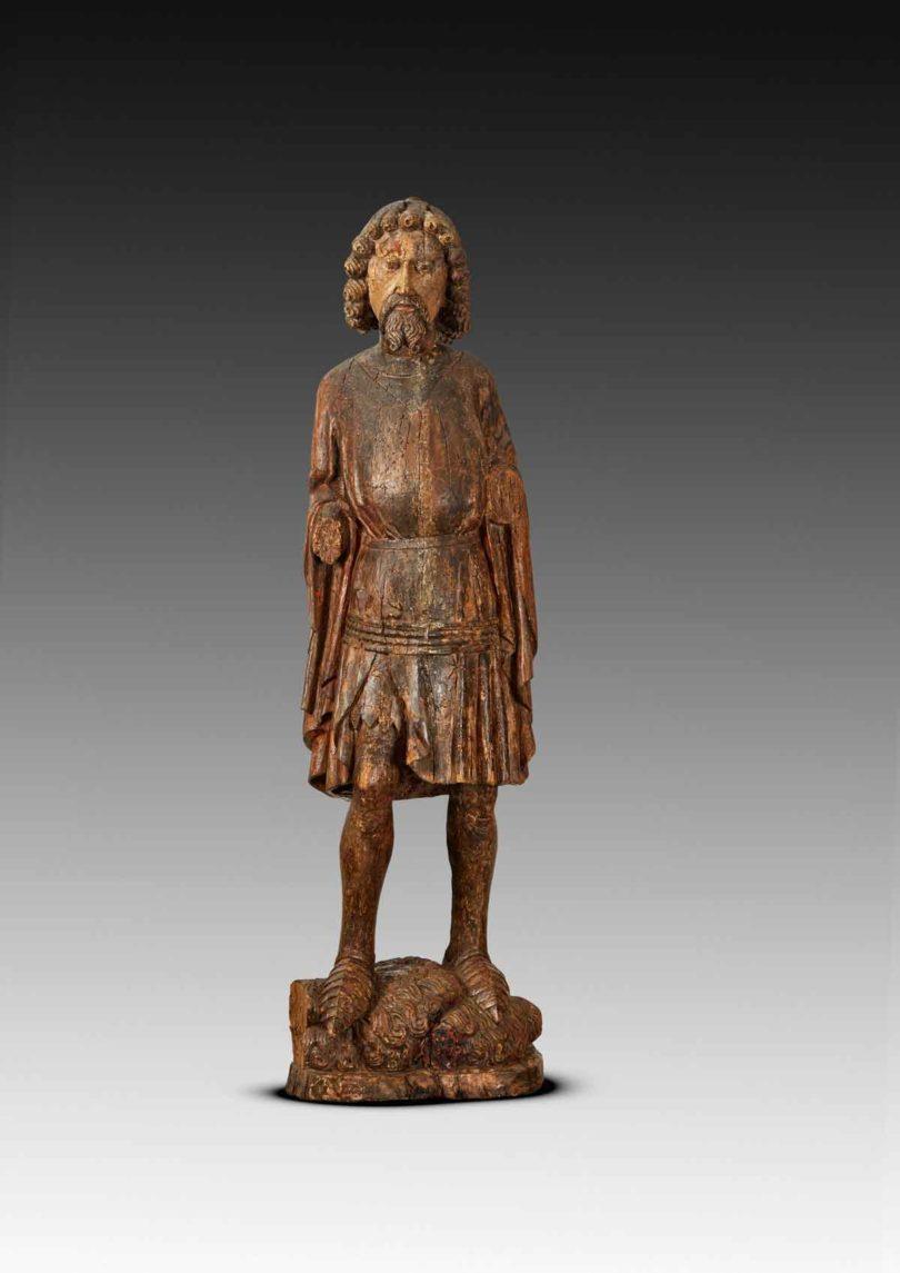 Die Figur des heiligen Georg, 14. Jahrhundert, zeigt der Kunsthandel Runge diesmal in seiner Koje auf der Art&Antique (Abb.: Art & Antique)