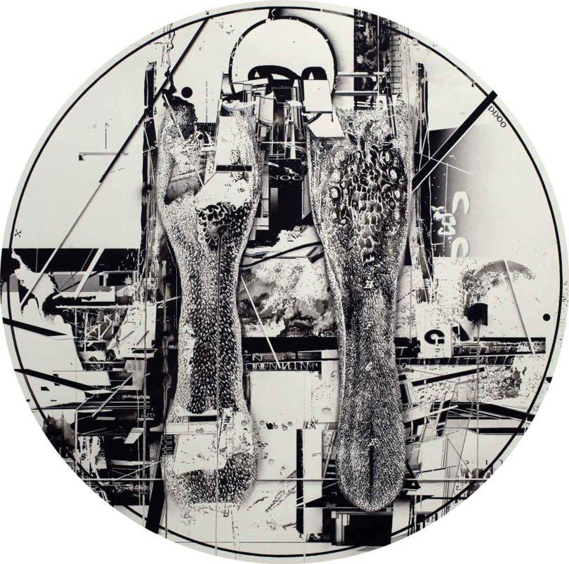 Hiroki Tsukuda (* 1978), o.T. Tusche, Kohle, 2017, 100x100cm (Abb.: Neuer Aachener Kunstverein)