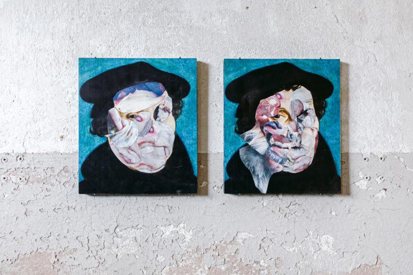 Der Shootingstar Adrian Ghenie schuf ein Doppelporträt des Reformators (Foto: Daniel Farò)