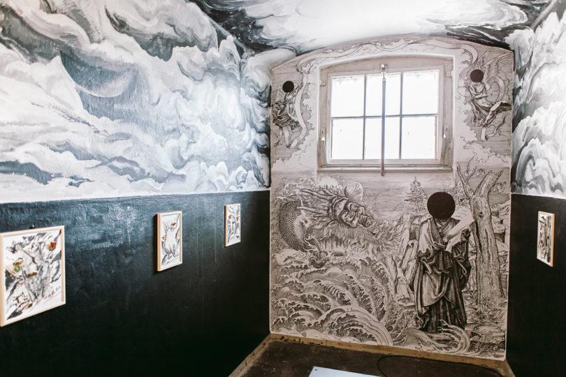 Die vom chinesischen Künstler Sun Xu gestaltete Zelle im Alten Gefängnis in Wittenberg (Foto: Daniel Farò)