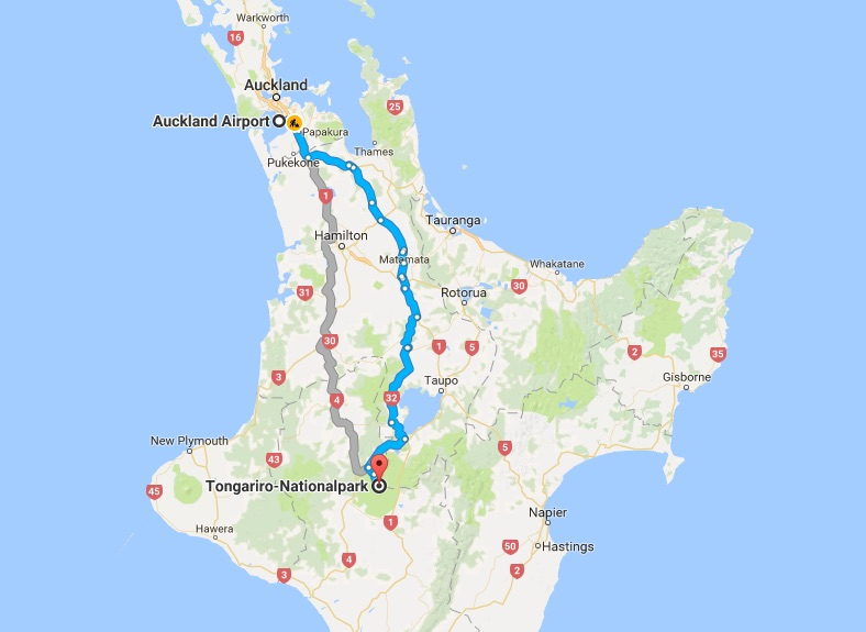 Felix Kiesslings Route durch Neuseeland