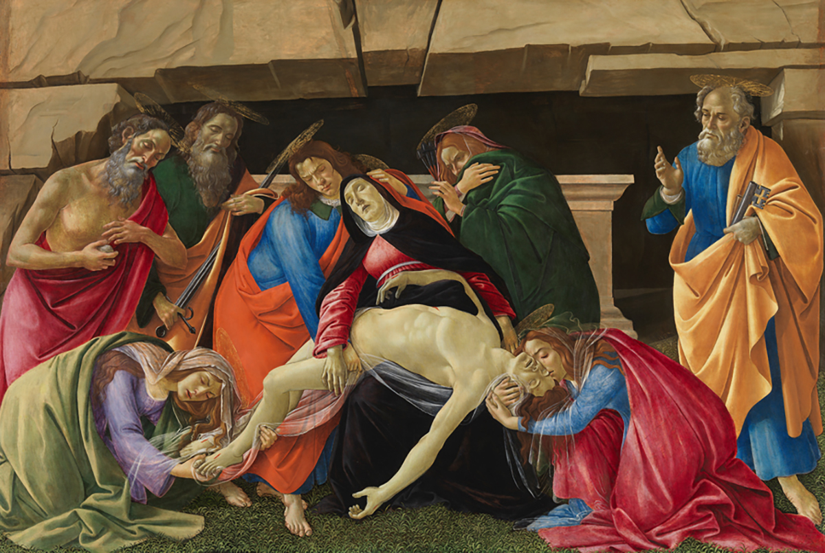 Sandro Botticelli, Beweinung Christi, um 1490/95, Zustand nach der Restaurierung, Alte Pinakothek, München