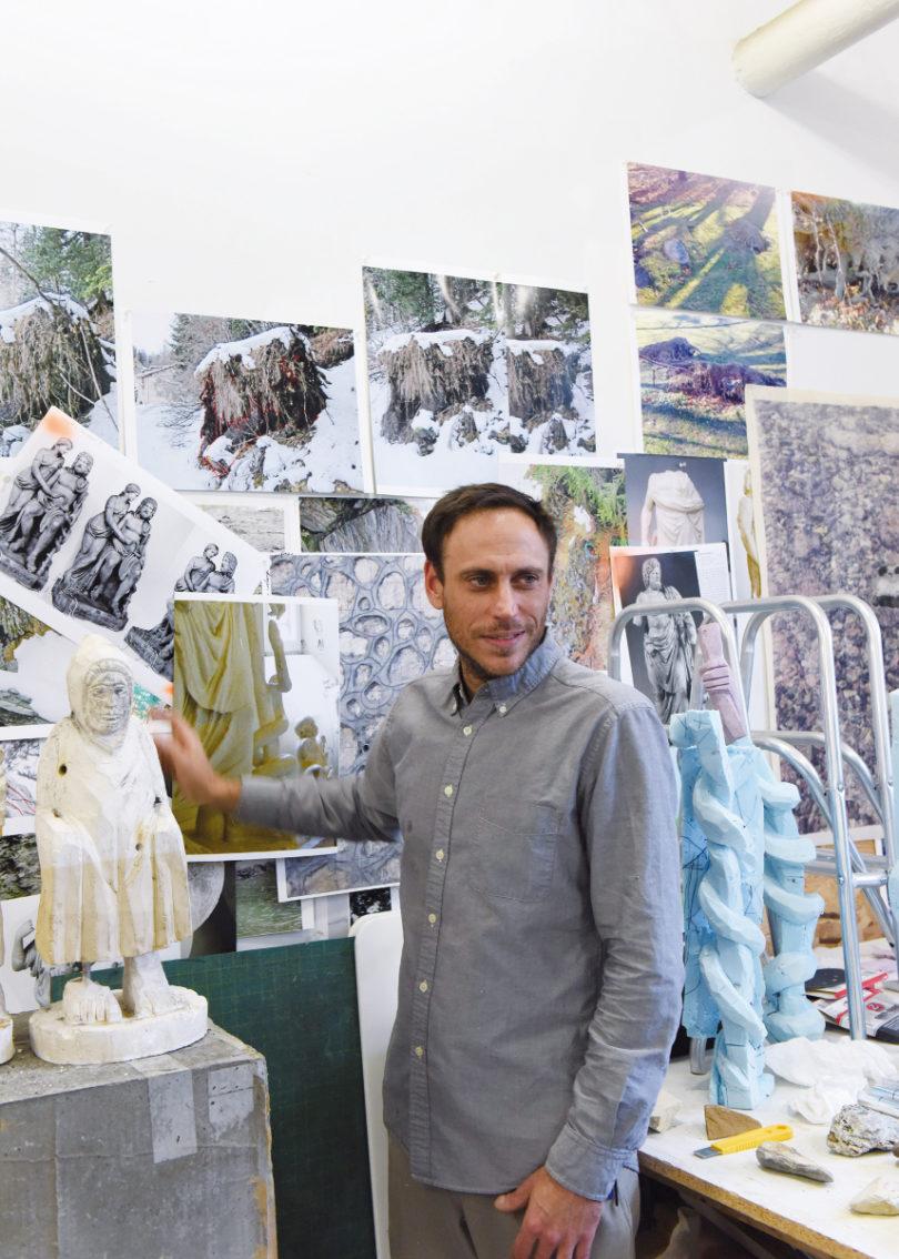 Der Künstler Justin Matherly in seinem Atelier (Foto: Gertraud Presenhuber, Wien)