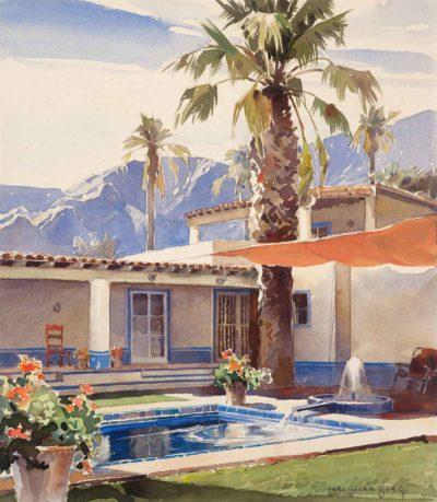 Wallace Neff, Haus K. Bourne, Palm Springs, 1933. In der Ausstellung