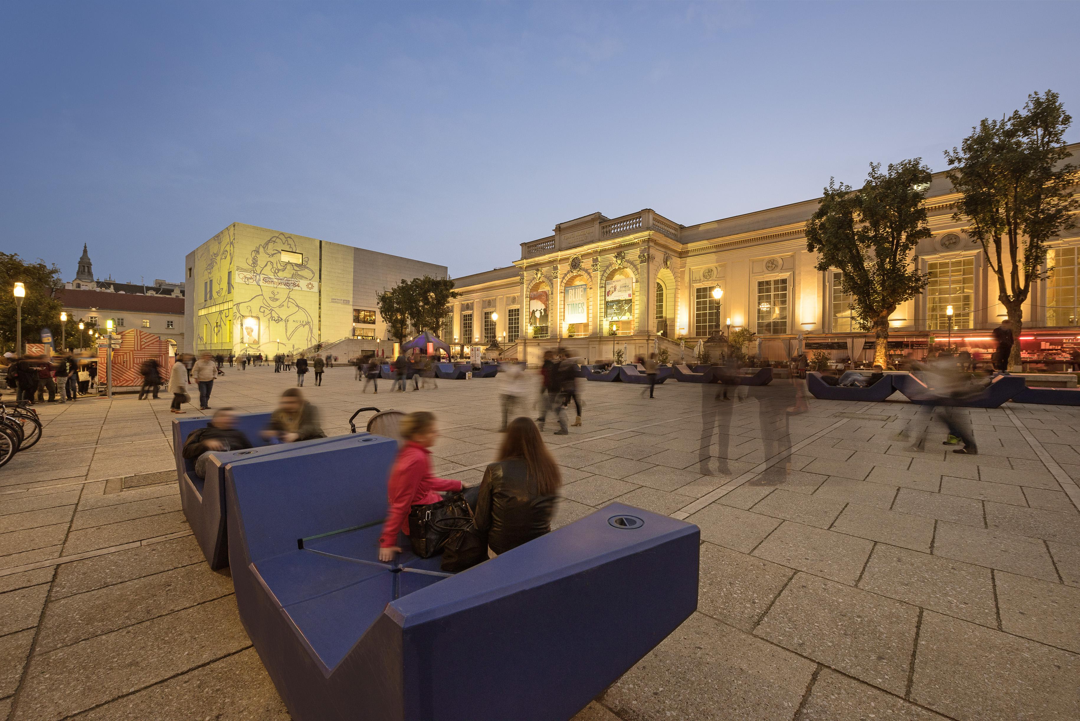 Das MuseumsQuartier Wien.