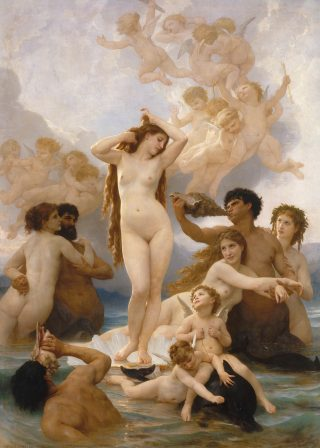 William Bouguereau (1825-1905), Die Geburt der Venus, 1879, Foto: Musée d'Orsay, © bpk | RMN – Grand Palais | Hervé Lewandowski