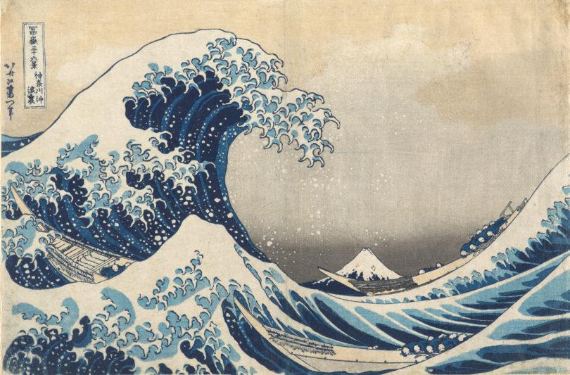 Hokusai Katsushika (1760-1849), Große Woge vor der Küste von Kanagawa (Kanagwwa Okinamiura), aus der Serie: 36 Ansichten des Berges Fuji (Fugaku sanjû rokkei), Japan, Edo-Zeit, 1832/33, Credit: Museum für Ostasiatische Kunst Köln, Inv. Nr. R 78,3. Foto: Rheinisches Bildarchiv Köln