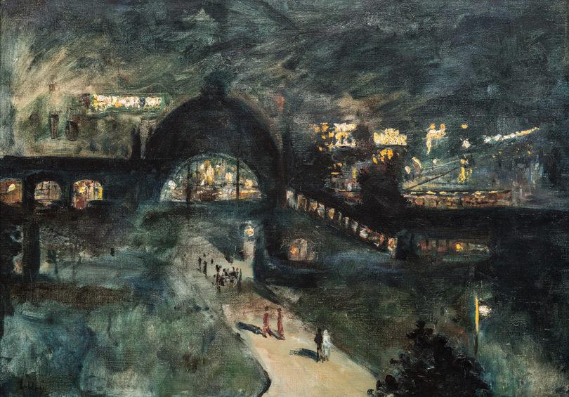 Lesser Ury: Bahnhof Nollendorfplatz bei Nacht, 1925, Stiftung Stadtmuseum Berlin, Reproduktion: Oliver Ziebe
