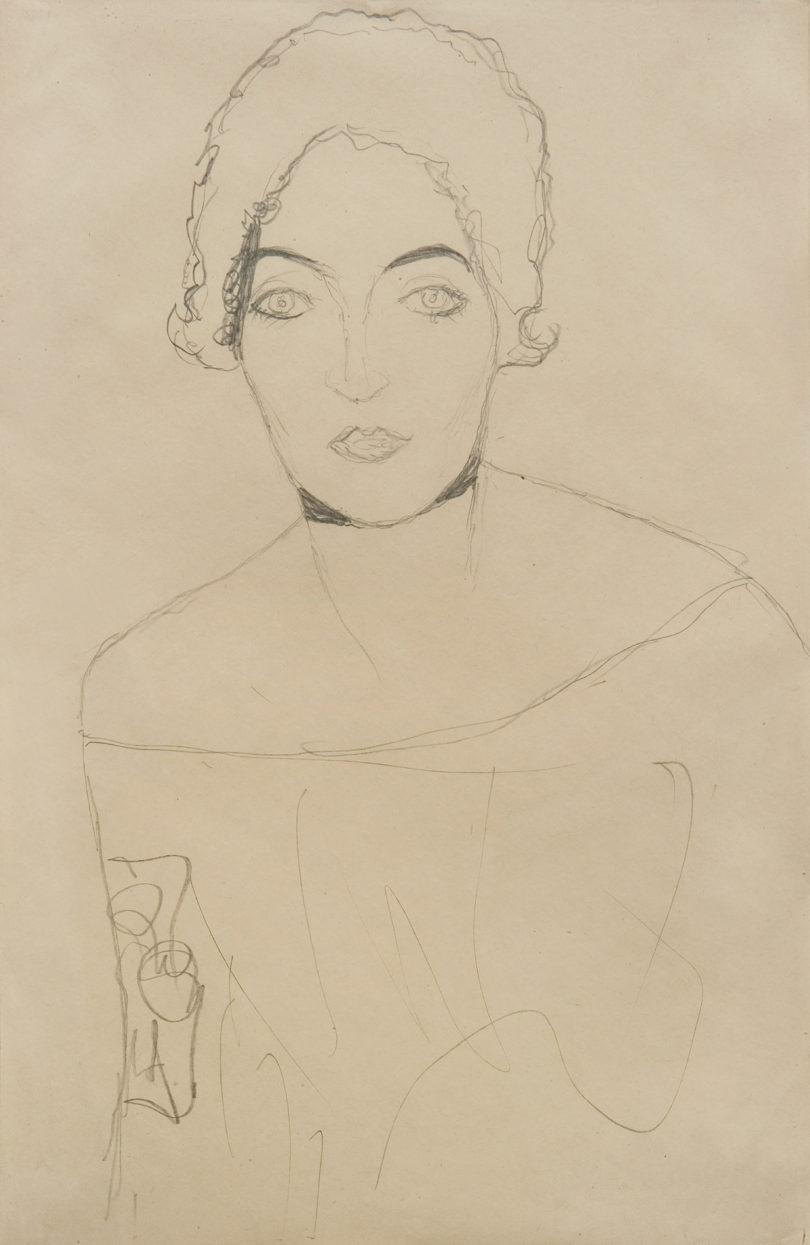 Die Dargestellte auf Gustav Klimts Zeichnung von 1916/17 bleibt anonym. Wienerroither und Kohlbacher aus Wien bieten sie für 250.000 Euro an