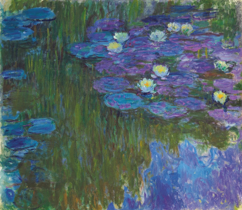 Claude Monet: Nymphéas en fleur, 160.9 x 180.8 cm, circa 1914-1917