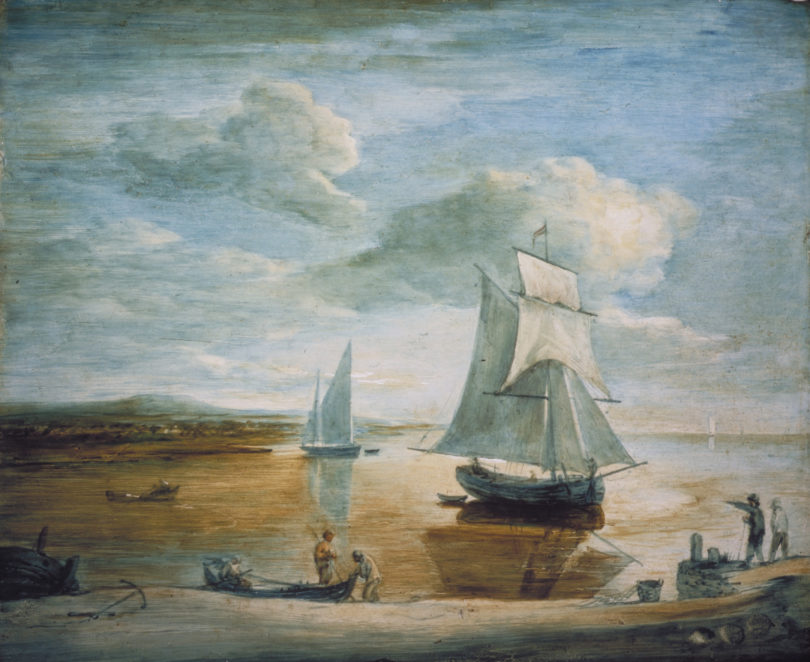 Thomas Gainsborough, Küstenlandschaft mit Segelschiffen, um 1783, Foto: © Victoria and Albert Museum, London