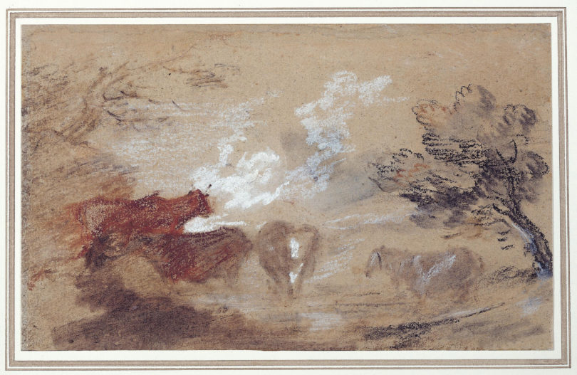 Thomas Gainsborough, Landschaft mit Rindern und Pferd, um 1785, Foto: © Gainsborough's House, Sudbury