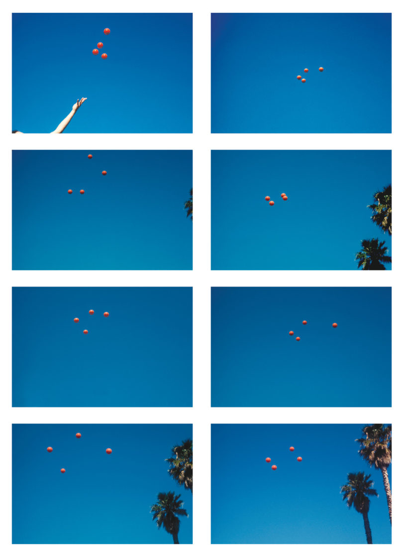 """Aus der Ausstellung """"Paradise is Now"""": John Baldessari, Throwing Four Balls in the Air to Get a Square (Best of Thirty-Six Tries), 1972-73 / Courtesy of the artist and Marian Goodman Gallery, New York"""
