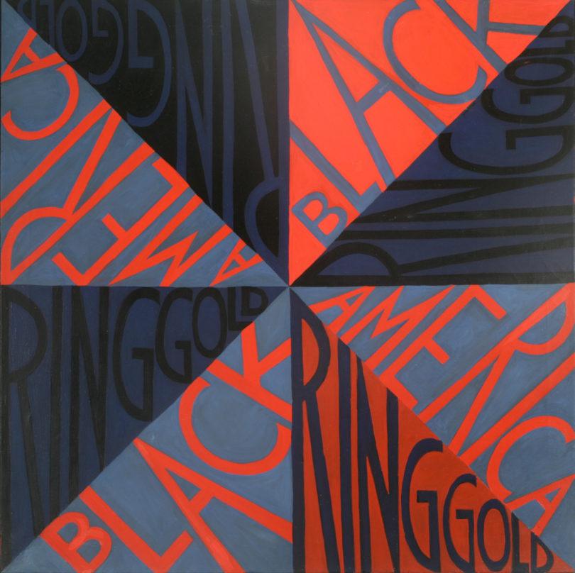 Faith Ringgold, Black Light Series #7: Ego Painting, 1969