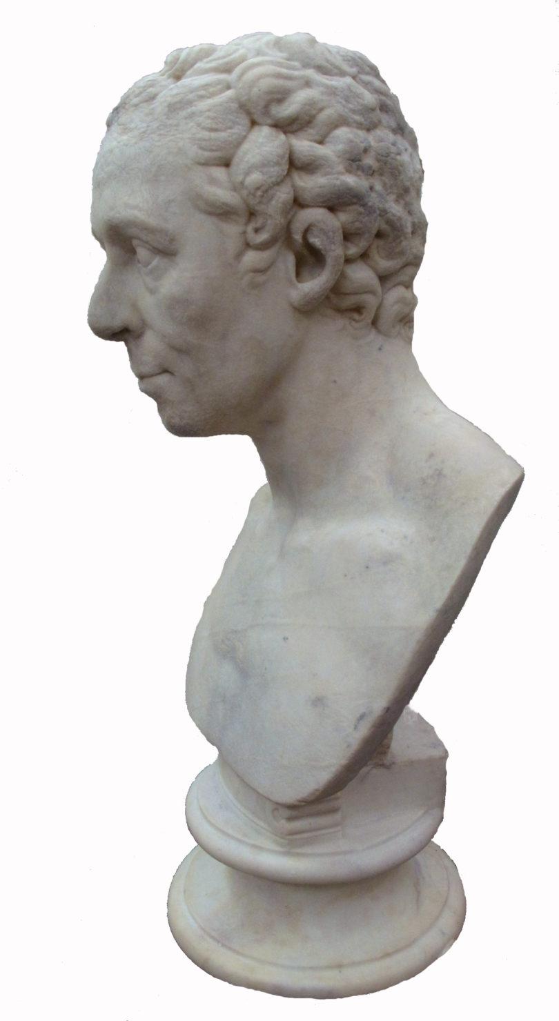 Antike Originale Vor 1945 Bronze Kopf Jüngling Nach Antiken Vorbild Bronze