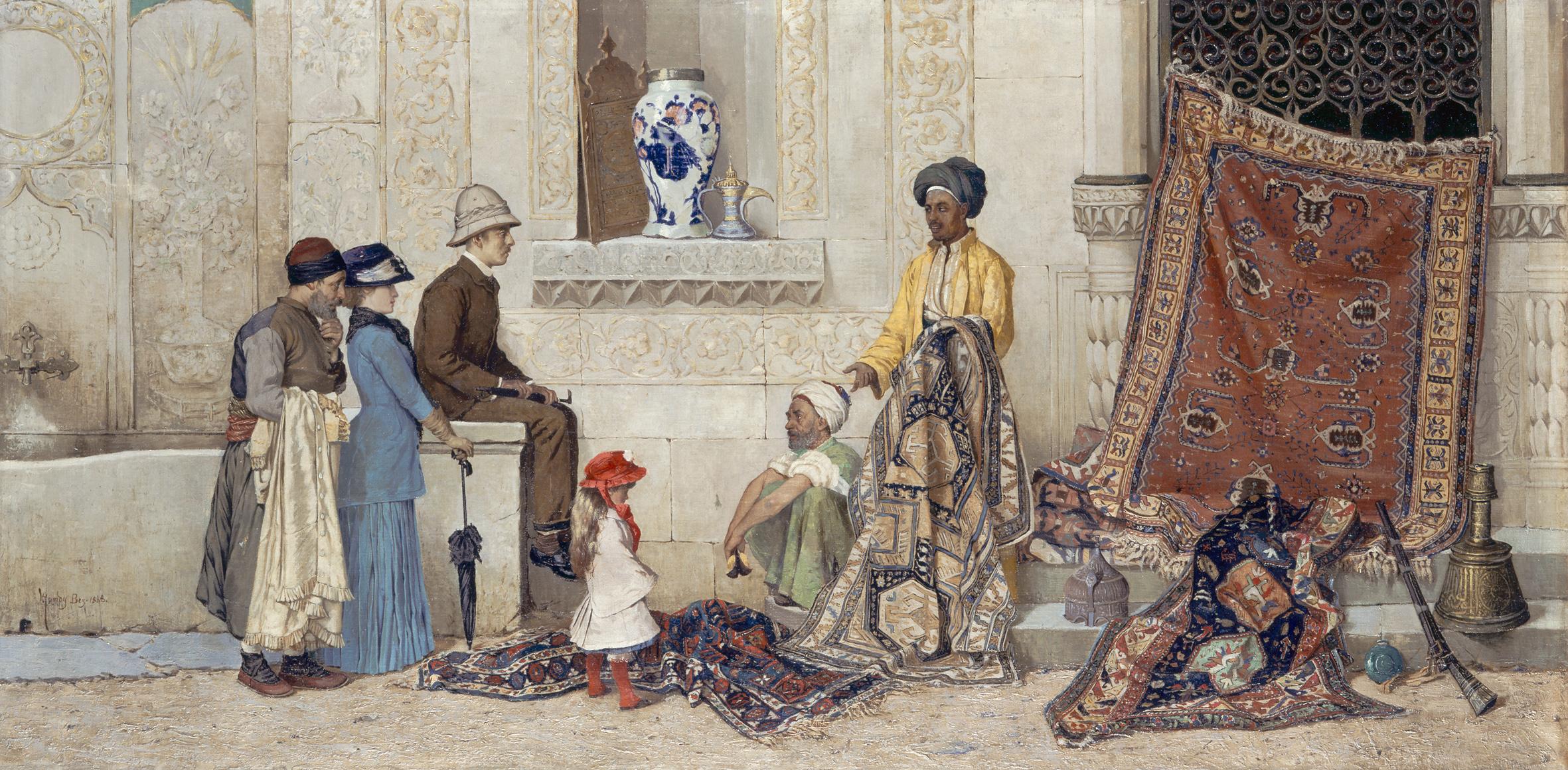 Osman Hamdy Bey Türkische Straßenszene, 1888 Öl auf Leinwand, 60 x 122 cm © Staatliche Museen zu Berlin, Nationalgalerie / Andres Kilger