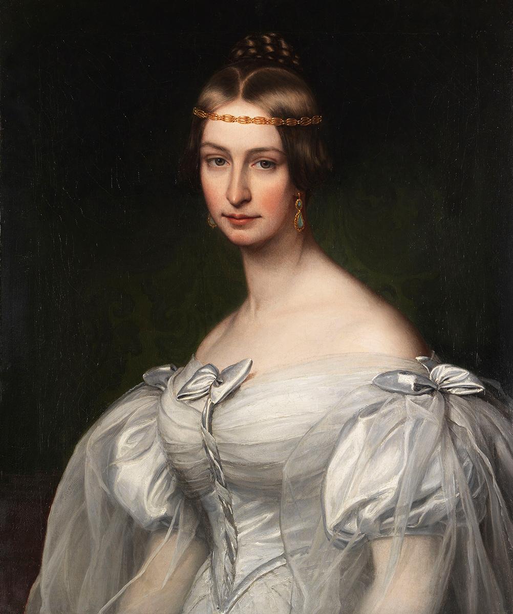 Friedrich Dürck, Bildnis der Caroline Krafft, 1835, Taxe 10.000 Euro, Foto: Ketterer