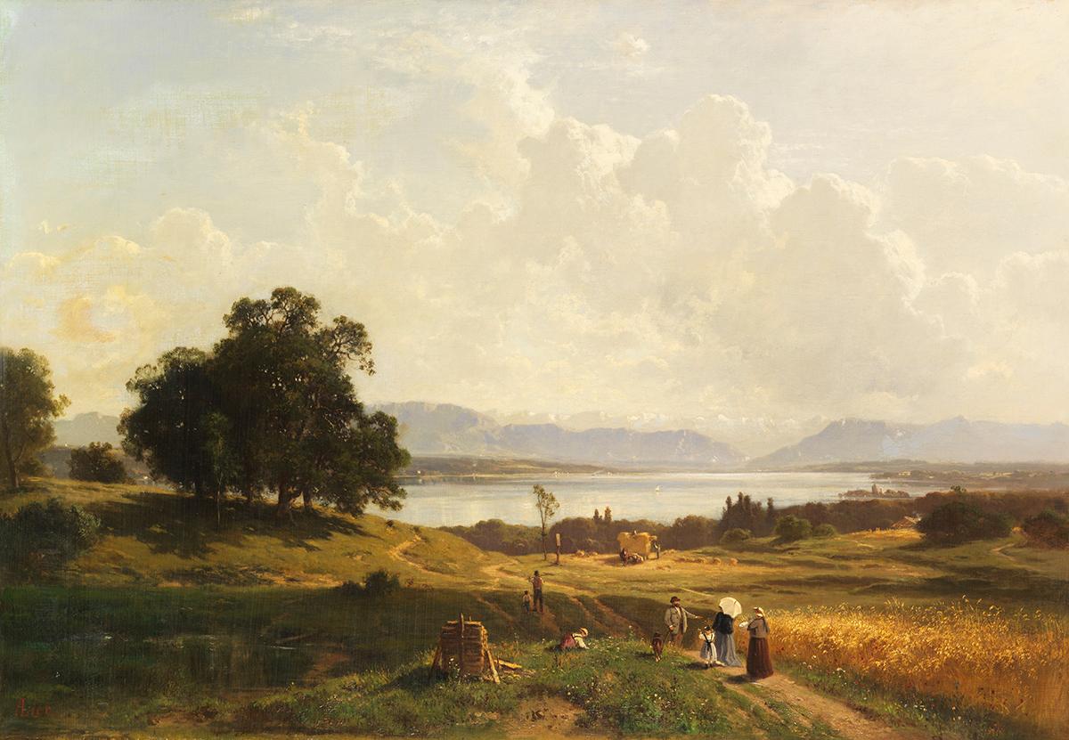 Adolf Heinrich Lier, Der Starnberger See von Pöcking aus gesehen, 1856/1863, Taxe 15.000 Euro, Foto: Ketterer