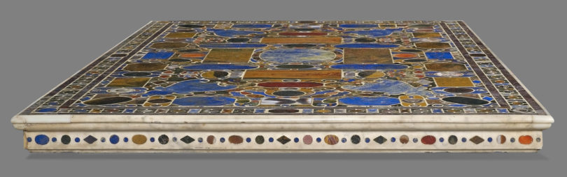 "Giorgio Vasari und Bernardino Porfirio da Leccio, ""Il Tavolino di gioie"", Florenz, um 1568-1577, angeboten von Robilant+Voena und Luca Burzio, für 10 Millionen Dollar"