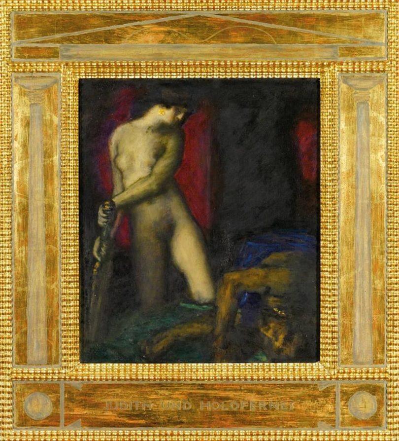 Franz Stuck, Judith und Holofernes, um 1927, 47,5 x 40 cm, angeboten von Kunkel Fine Art