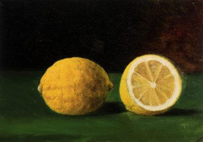 Betzy Libert, Zwei Zitronen, Staatliches Museum Schwerin/Ludwigslust/Güstrow, Schenkung Christoph Müller im Pommerschen Landesmuseum Greifswald