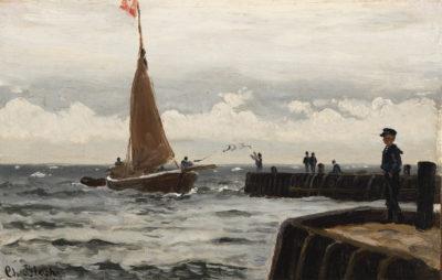 Christian Blache, Kleiner Matrose am Meer, Staatliches Museum Schwerin/Ludwigslust/Güstrow, Schenkung Christoph Müller im Pommerschen Landesmuseum Greifswald