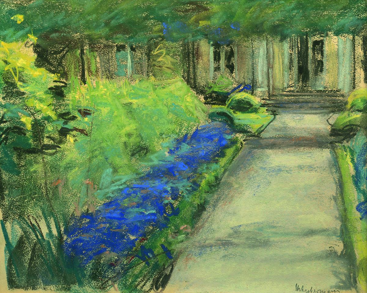Max Liebermann, Vordergarten nach Osten, um 1924 © Privatsammlung