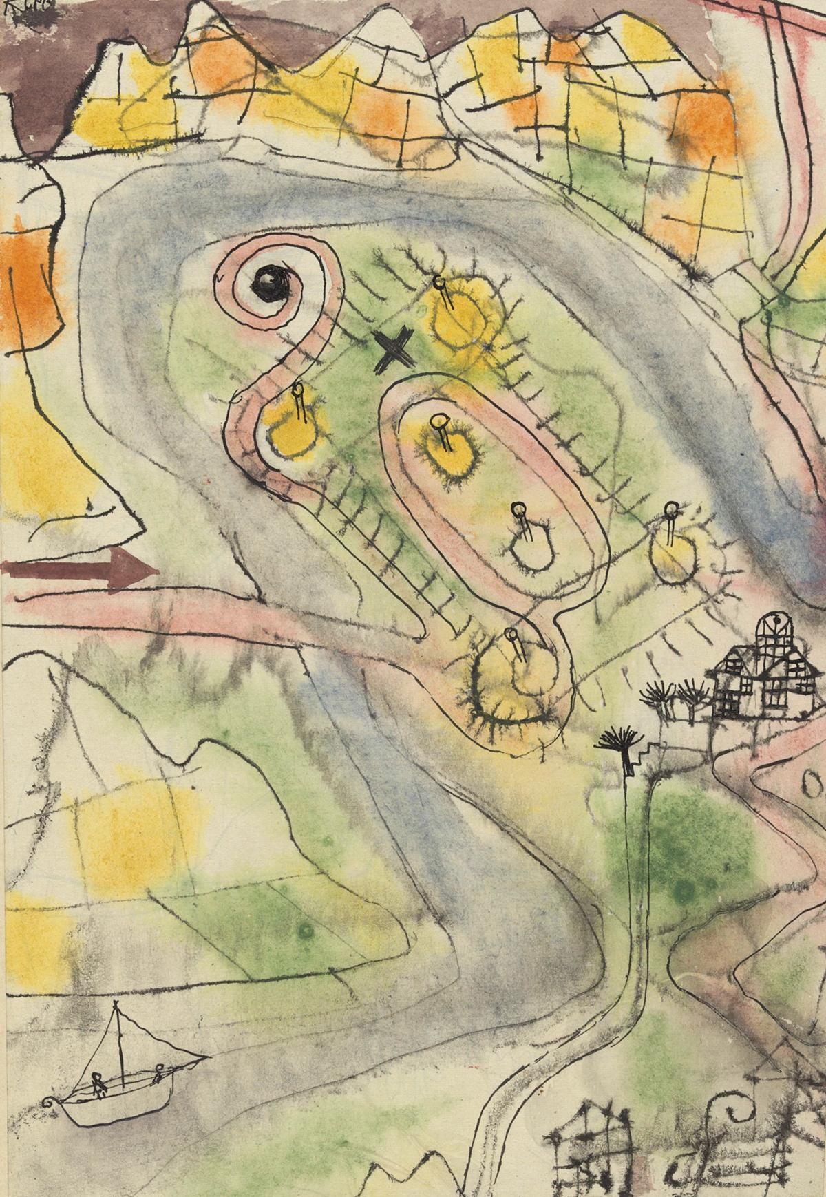 Paul Klee, Landschaft mit dem Lustgarten, 1924 © Privatbesitz, Schweiz, Depositum im Zentrum Paul Klee, Bern