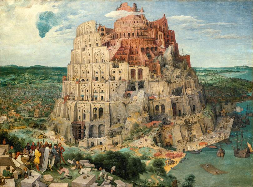 "Pieter Bruegel d. Ä., ""Turmbau zu Babel"", 1563, Öl auf Holz, 114 x 155 cm, Kunsthistorisches Museum, Foto: KHM-Museumsverband"