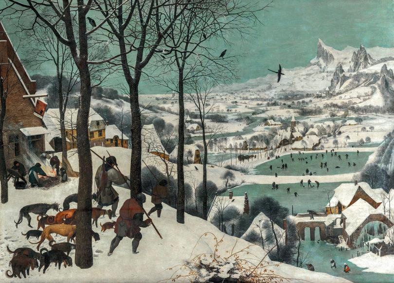 "Pieter Bruegel d. Ä., ""Jäger im Schnee"", 1565, Öl auf Holz, 117 x 162, Kunsthistorisches Museum, Foto: KHM-Museumsverband"