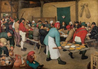 """Pieter Bruegel d. Ä., """"Bauernhochzeit"""", ca. 1567, Öl auf Holz, 114 x 164, Kunsthistorisches Museum, Foto: KHM-Museumsverband"""
