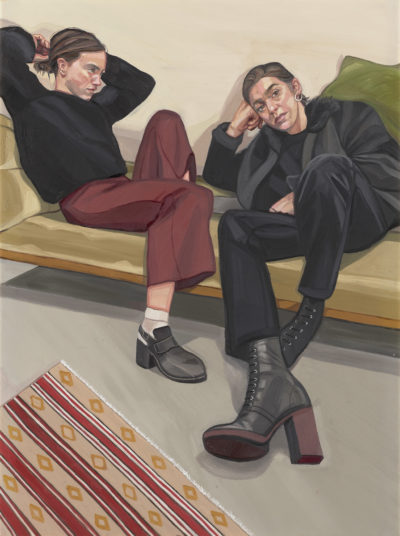 A Portrait of two Female Painters by Ania Hobson, Copyright: © Ania Hobson