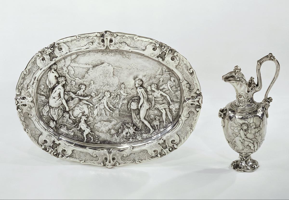 Kanne mit Szenen der Diana-Mythologie, Paulus Willemsz van Vianen, 1613, Foto: Rijksmuseum