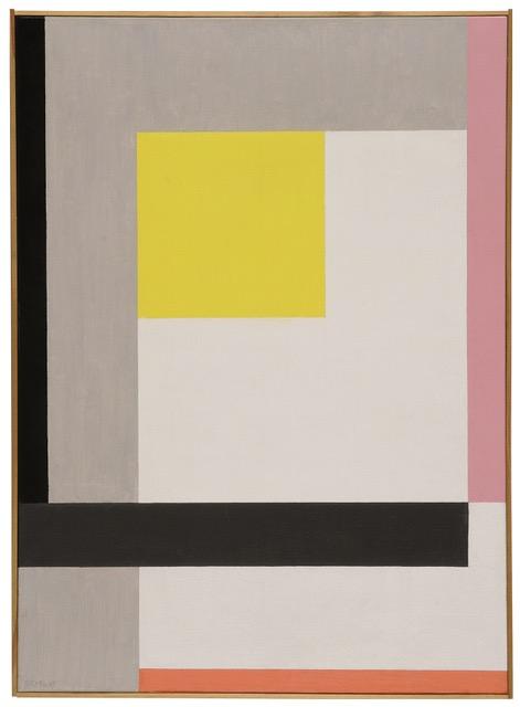 Walter Dexel Komposition mit kleinem gelben Quadrat, 1967 Öl auf Leinwand, 72,5 x 52 cm, Foto: Museum für Konkrete Kunst, Ingolstadt