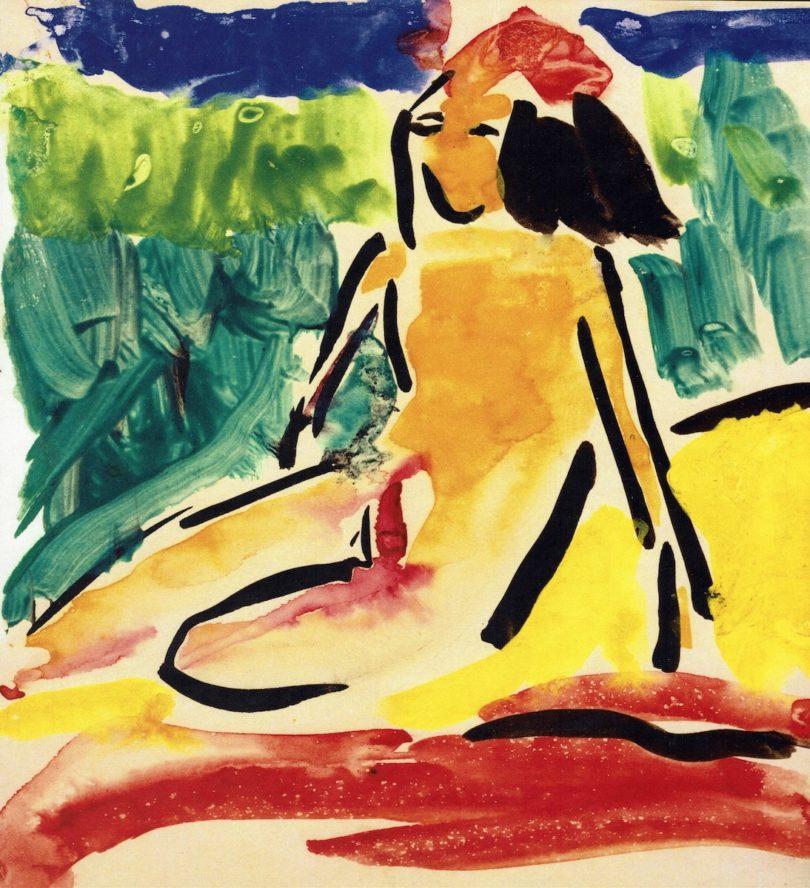 Ernst Ludwig Kirchner, Fränzi an den Moritzburger Teichen