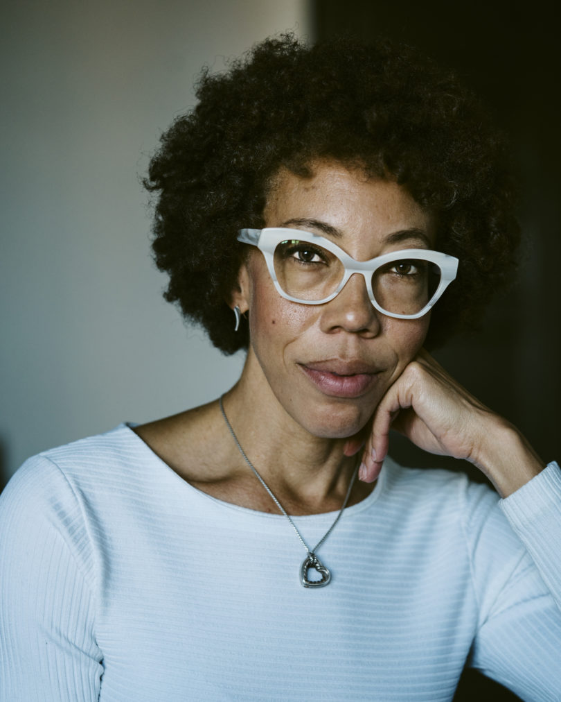 Amy Sherald in ihrem Studio in Baltimore, Foto: Justin T. Gellerson, Courtesy the artist und Monique Meloche Gallery, Chicago.