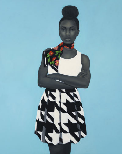 Amy Sherald, A clear unspoken granted magic, 2017. Oil on canvas, 54 × 43 inches. Collection of Denise and Gary Gardner. Courtesy the artist and Monique Meloche Gallery, Chicago