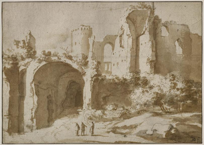 Römische Ruinen, um 1629 © Bartholomeus Breenbergh © Ville de Grenoble/Musée de Grenoble © J-L. Lacroix