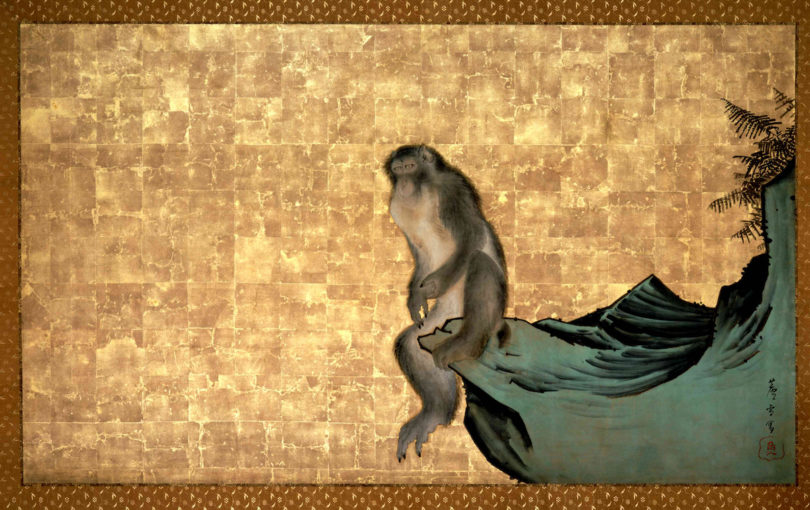 "Nagasawa Rosetsu (1754–1799), ""Affe auf Fels"", ca. 1792–1794, Private Sammlung, Japan, Foto: Ueli Alder, Museum Rietberg, Zürich"