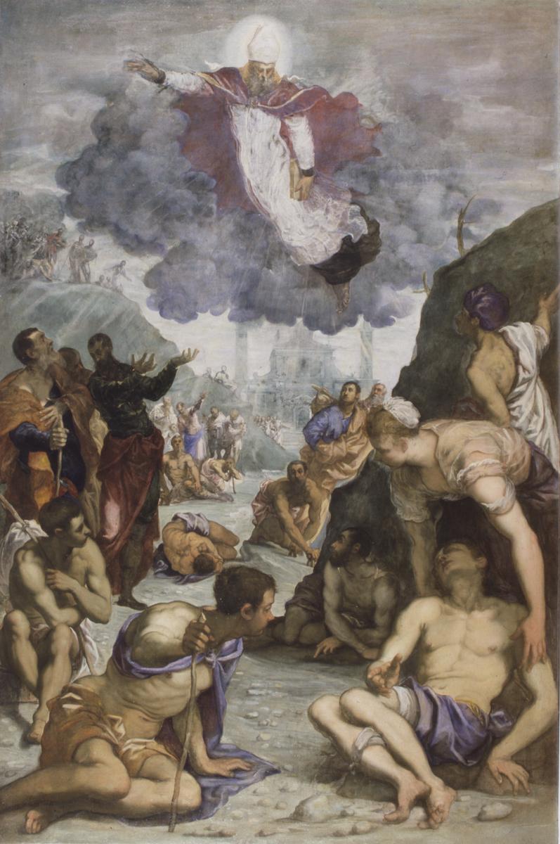 Jacopo Tintoretto, Sant'Agostino risana gli sciancati, circa 1549/1550, Öl auf Leinwand, 255 × 174,5 cm, Foto: Vicenza, Musei Civico di Palazzo Chiericati