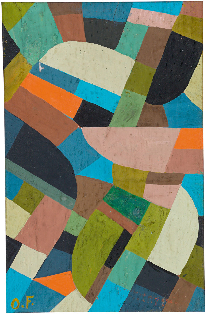 "Otto Freundlich, ""Petite Composition"". Um 1937, Tempera auf Holz, 14,5 × 9,5 cm, Foto: Grisebach"