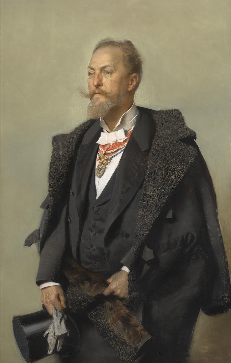 Porträt Otto Wagner, 1896, Gottlieb Theodor Kempf von Hartenkampf © Wien Museum